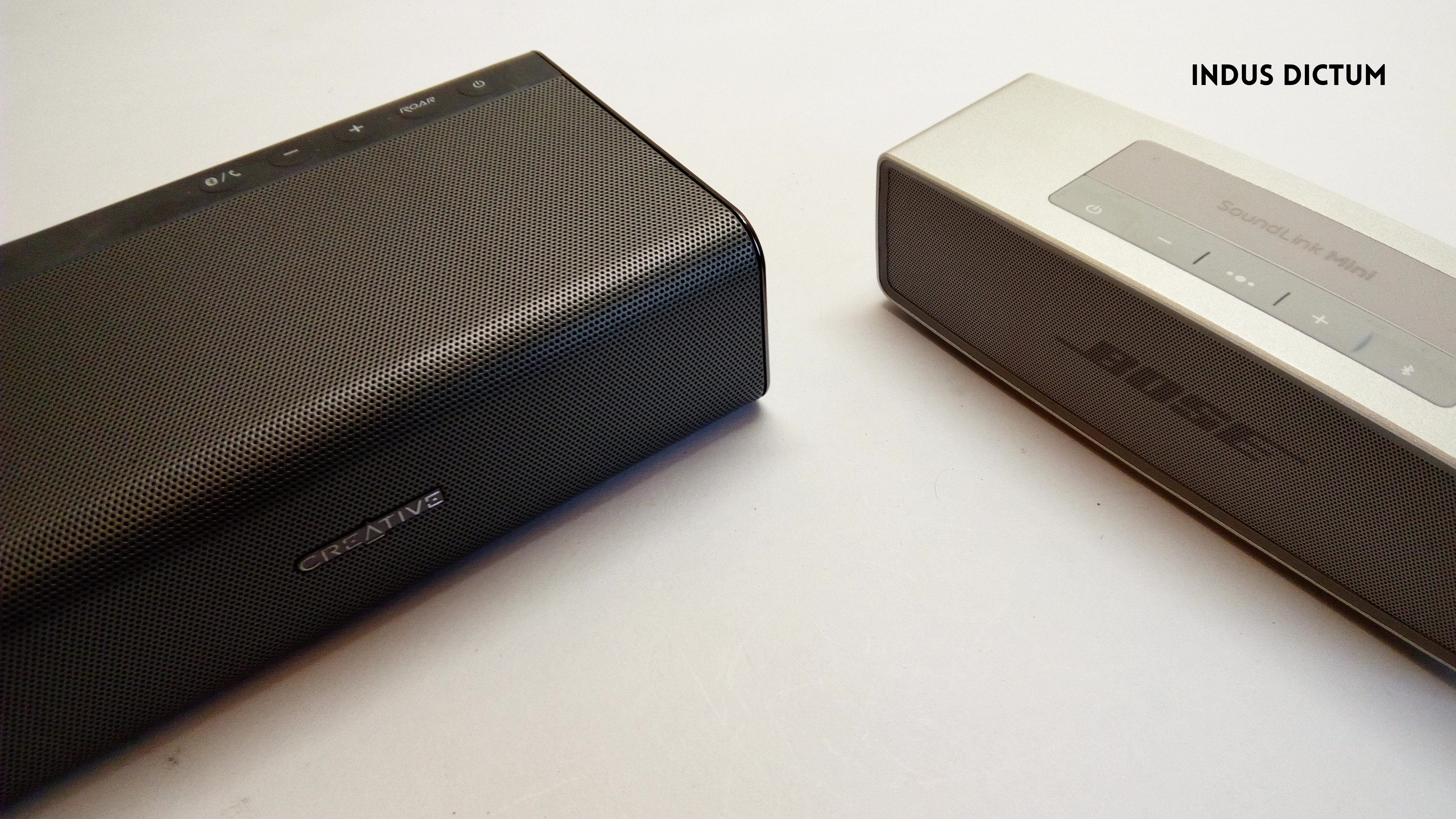 bose soundlink mini and creative roar soundblaster watermark